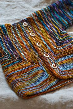 Saartje's Booties and Baby Surprise Jacket... in a colorway like this