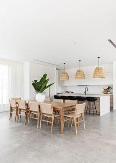 Kitchen Room Design, Dining Room Design, Home Decor Kitchen, Kitchen Ideas, Kitchen Dining, Kitchen Modern, Dining Room Inspiration, Home Decor Inspiration, Minimalist Dining Room