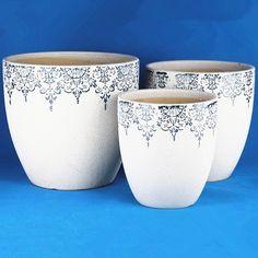 Clay Flower Pots, Flower Pot Crafts, Clay Pot Crafts, Painted Clay Pots, Painted Flower Pots, Flower Pot Design, Egg Carton Crafts, Lace Painting, Decorated Flower Pots