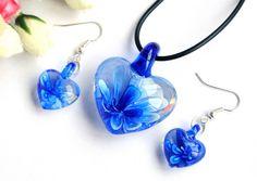 Murano Glass Pendants | Fashion Murano Glass Jewelry Set (W14393E01)