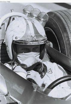 Chris Amon, Ferrari Dino 246T, WF, Tasman Series 1968