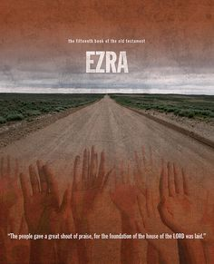 Ezra Books Of The Bible Series Old Testament Minimal Poster Art Number 15 by Design Turnpike