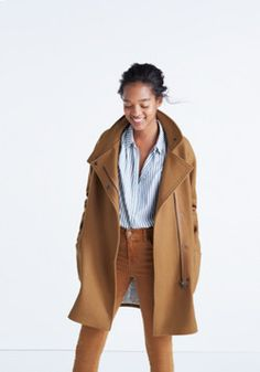 City Grid Coat in Burnished Cedar - Madewell $298