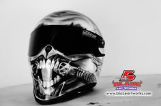 Custom Air brushed Motorcycle Helmets by Blazeartworks