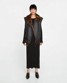 COMBINED FAUX FUR WAISTCOAT Fur Waistcoat, Zara Australia, Zara Women, Outerwear Women, Faux Fur, Duster Coat, Style Inspiration, My Style, Jackets