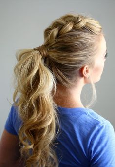 17 Effortlessly Cool Braided Ponytail Ideas http://cutehairstyles.co/braided-ponytail.html
