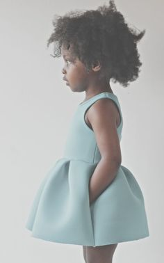 robin's egg blue baby dress in neoprene