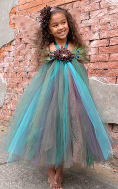 Flower Girl Tutu Dress Precious Peacock by Cutiepatootiedesignz
