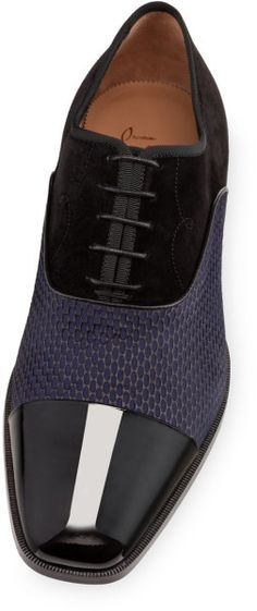 Christian Louboutin Olympio Flat in Blue for Men (black)
