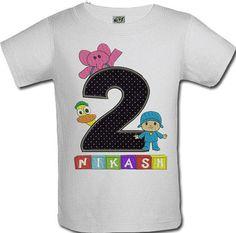 Boys STS Pocoyo Number Birthday Onesie or Shirt