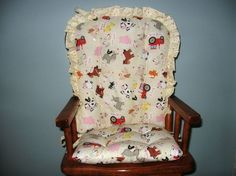 Custom High Chair Pads Child's Rocking Chair Cushions With Customer's Own Fabric