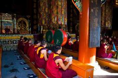 I feel such a strong affinity towards the buddhist monasteries and monks... I must have been a monk in a previous life :)