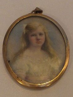 Exceptional late Victorian portrait miniature of a young lady, signed