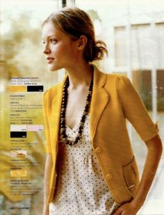 Cute Mustard Yellow Jacket and polka dot top