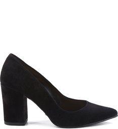 Scarpin Block Heel Black