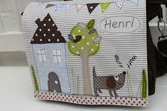 """Rucksäcke - Kindergartenrucksack """"Hund Henri"""" NEU - ein Designerstück von milla-louise bei DaWanda"""