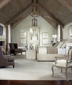 Keeping it simple....plain and fancy, Master Bedroom...up to the rafters