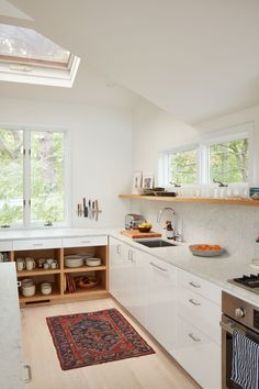Lisa Jones' Shelter Island House Kitchen Closeup, Photo by Jonathan Hokklo