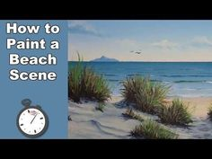 How to Paint Sea Beach in Acrylic Time Lapse Beach Scene Painting, Time Painting, Painting Videos, Painting Tips, Painting Art, Acrylic Painting For Beginners, Acrylic Painting Techniques, Acrylic Painting Canvas, Beginner Painting