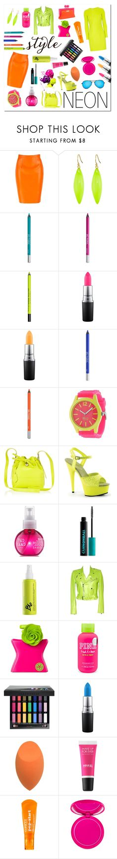 """Neon Fashion"" by pr267 ❤ liked on Polyvore featuring Giuseppe Zanotti, Alexis Bittar, Urban Decay, MAC Cosmetics, Geneva, Aspinal of London, Pleaser, Kate Spade, Ralph Lauren and Bond No. 9"