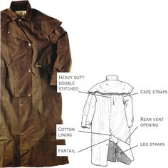 Detailed Product View :: Drizabone Duster: Heavyweight Long Riding Coat
