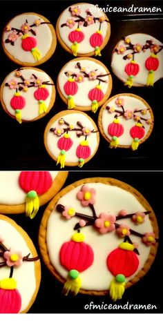 new year Chinese Lunar Year Cookies Chinese New Year Desserts, Chinese New Year Cookies, Chinese New Year Food, New Years Cookies, New Year's Desserts, Iced Cookies, Cute Cookies, Sugar Cookies, New Year's Cake