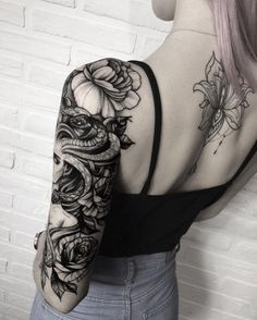 Tattoo Sleeves Medusa Woman