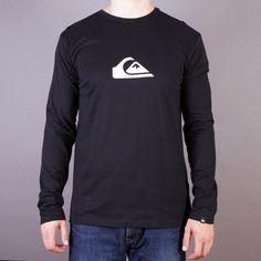 Czarny longsleeve Quiksilver koszulka z długim rękawem LS Logo Bright B1 Black - kolekcja Fall/Winter 2014 / www.brandsplanet.pl / #quiksilver