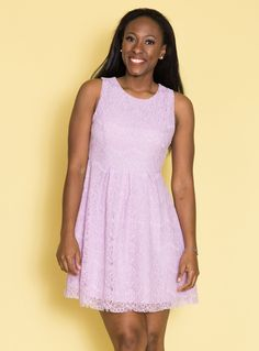 38fc5b0d78198 This adorable lilac dress is so dainty and feminine. This dress is simple