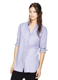WILFRED FREE SIGRED BLOUSE - Classic chambray shirting — the best trick for looking effortlessly put together