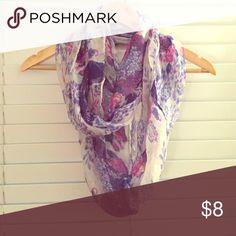 Scarf Purple blue beautiful infinity scarf Jackets & Coats