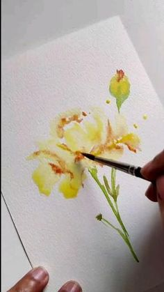 Watercolor Paintings For Beginners, Watercolor Art Lessons, Abstract Watercolor, Watercolor Illustration, Watercolor Flowers Tutorial, Diy Canvas Art, Water Colour Techniques, Flower Art, Watercolors
