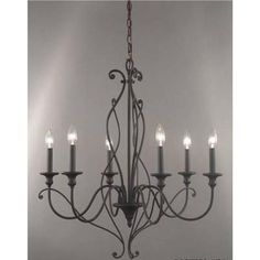 Hampton Bay - Cadence Collection, 6 Light Chandelier - 15437-013 - Home Depot Canada....master bedroom? change to swag light??