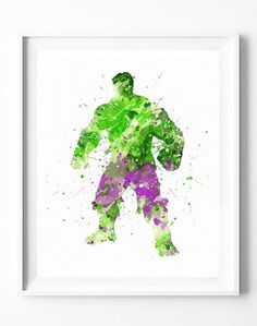 The Incredible Hulk Marvel Green Warrior Canvas Print Wall Art A2 A1 A0 Sizes