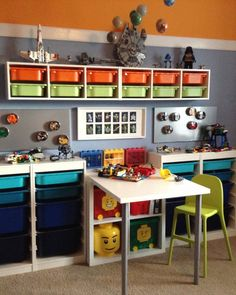 41 Beautiful Kids Toys Design Ideas With Ikea Storage Hacks - As any mother of a young child knows, toys will quickly overrun your house if you do not have proper storage. The more children you have, the worse it. Ikea Trofast Storage, Lego Storage, Storage Hacks, Record Storage, Trofast Hack, Storage Ideas, Lego Bedroom, Kids Bedroom, Ikea Kids Room