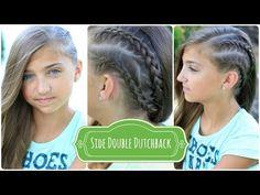 Double Dutchback | Heidi Klum Hairstyles #heidiklum #braid #braids #cutegirlshairstyles #hairstyles #edgyhair #backtoschoolhairstyles