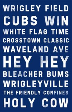 The Chicago Cubs 11x17 print, Cubs Poster $10.00