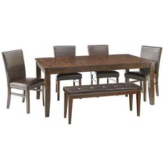 Landry Dining Table with 4 Parsons Chairs and Bench - JCPenney