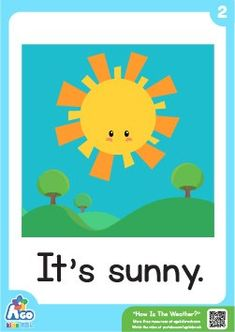 Need free weather flashcards for your next English class? BINGOBONGO Learning has tons of great free resources to make your lessons the best! Weather Activities Preschool, Preschool Printables, Flashcards For Kids, Worksheets For Kids, Printable Worksheets, Weather For Kids, Sunny Weather, Cold Weather, Weather Experiments