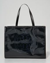 Tory Burch. Perforated Logo Tote, Small