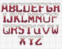 Disegni-punto-croce-alfabeto-natalizio