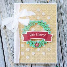 Make It Merry! Card by Gail Lindner featuring JIllibean Soup Holly Berry Borscht