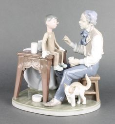 """Lot 108, A Lladro group of Geppetto and Pinocchio 5396 10"""" est £80-120"""