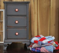 We are obsessed with painted furniture...and dressed up knobs!