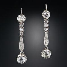 Antique Diamond Drop Earrings - 20-1-4225 - Lang Antiques