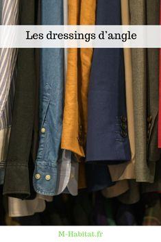 Les dressings d'angle ou en U Dressing Angle, Angles, Dressings, Denim, Jackets, Fashion, Down Jackets, Moda, Fashion Styles