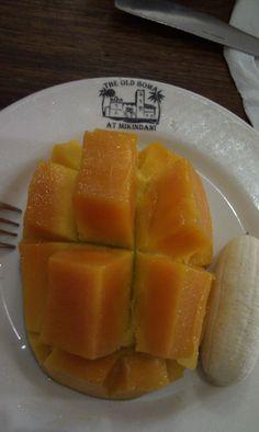 Mango served at The Old Boma, Mikindani, Mtwara, Tanzania