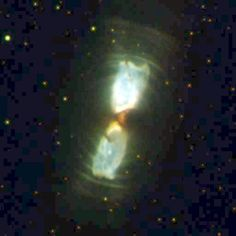 Cotton Candy Nebula - IRAS 17150-3224 - Hubble's Wide Field Camera 2 has captured images of the birth of 2 planetary nebulae as they emerge from wrappings of gas and dust, like butterflies breaking from their cocoons. It is located in the southern constellation Ara (Latin : altar) and is about 8,000 light-years away