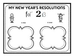 Classroom Freebies Too: New Year's Resolutions