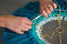 Craft a Trendy Tassel Chandelier is part of Diy chandelier - The DIY decor experts at HGTV show you how to craft a trendy Bohemian light fixture Diy Tassel, Tassels, Decoracion Low Cost, Diy Light Fixtures, Diy Chandelier, Iron Chandeliers, Diy Home Crafts, Diy Fashion, Diy Furniture